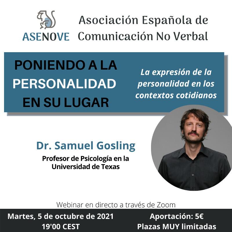 Webinar Dr. Samuel Gosling